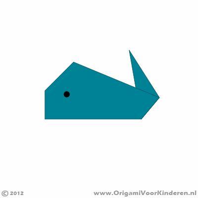 Origami instructies stap 7