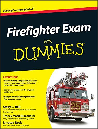 Firefighter Exam For Dummies gives you a complete review of the most commonly tested topics that are typical of firefighter exams given to candidates across North America, as well as tips and advice on how to pass the oral interview, psychological testing, and the Candidate Physical Ability Test (CPAT).