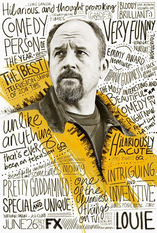 Louie by Ozan Karakoç Yup, love it. #poster #type #illustration