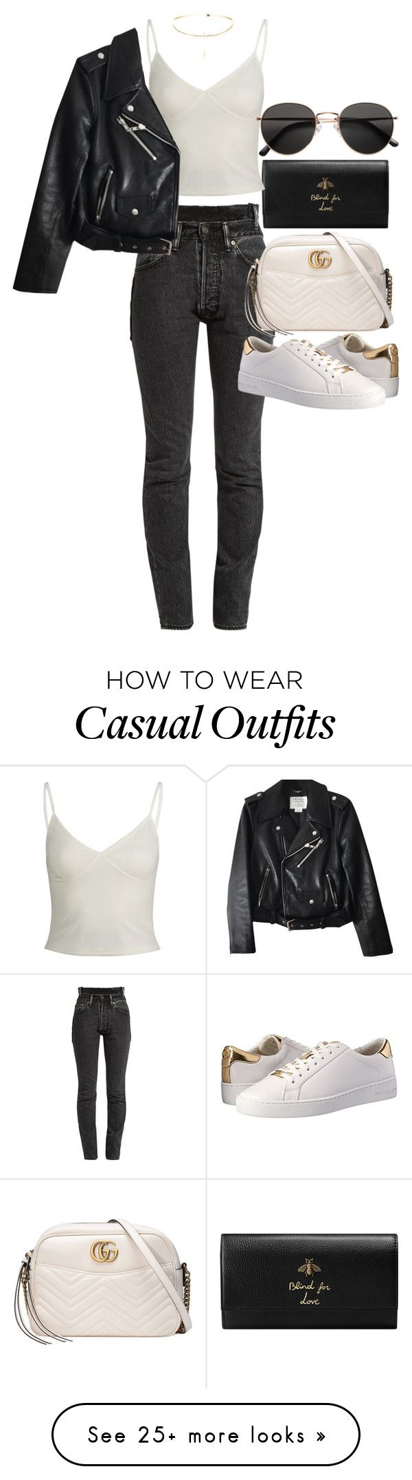 """""""Untitled #21638"""" by florencia95 on Polyvore featuring Gucci, Vetements, Kate Spade, MICHAEL Michael Kors and H&M"""