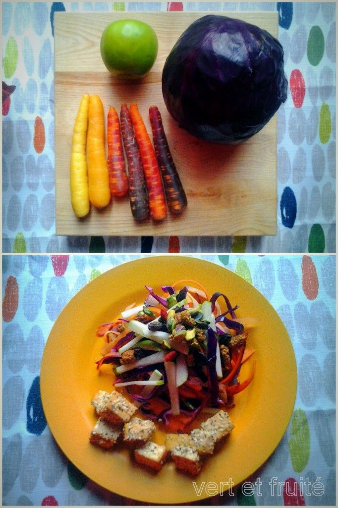 Salade arc-en-ciel | vert et fruité