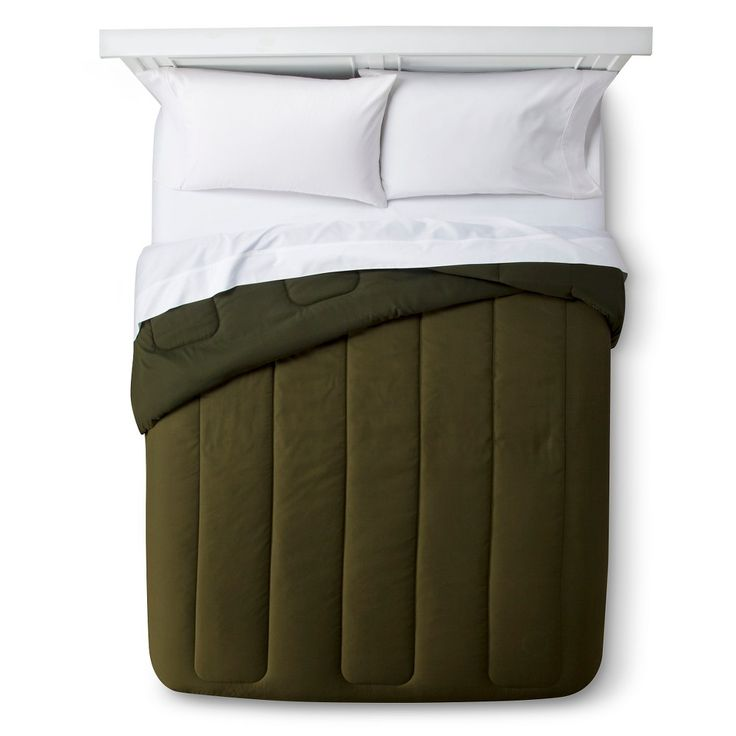 Solid Comforter (Twin Extra Long) Olive (Green) - Room Essentials