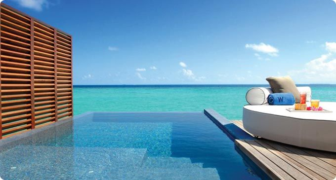 Private plunge pool at the W Maldives