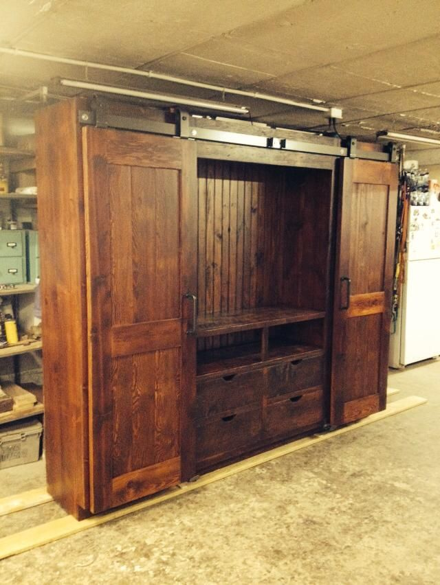 13 best images about barn door entertainment cabinet on. Black Bedroom Furniture Sets. Home Design Ideas