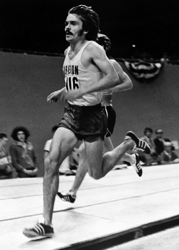 Steve Prefontaine in Portland, Ore., Jan. 29, 1973, at the Oregon Invitational Indoor Track and Field Meet.   @A Lifetime Legacy