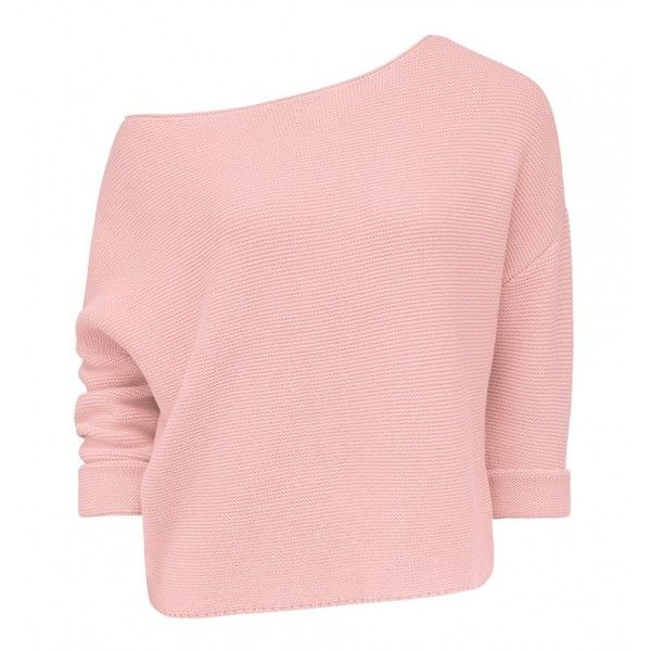Claudia Slouch Batwing Jumper ($54) ❤ liked on Polyvore featuring tops, sweaters, slouchy tops, jumper top, slouch sweater, pink top and pink jumper