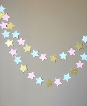 Gender Reveal Twinkle Twinkle Little Star Garland, Baby Shower, Gender Reveal Party Decorations door ConfettiBistro op Etsy https://www.etsy.com/nl/listing/245479229/gender-reveal-twinkle-twinkle-little