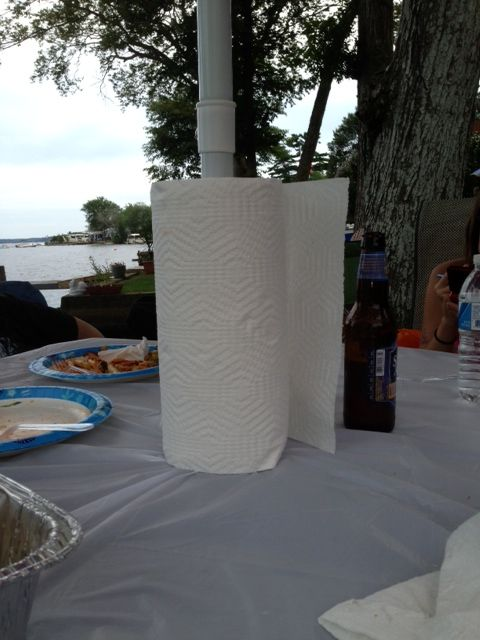 Use Umbrella Stand for Paper Towel Holder!