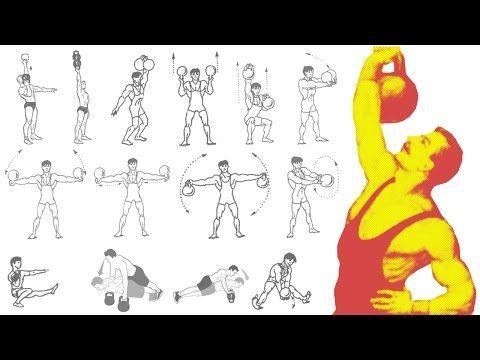 Силовые упражнения с гирями! Тренировка дома. Начало… Total Body Kettlebell workout at home! - YouTube