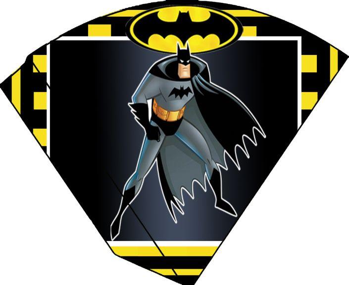 Lembrancinha Batman Cone para Guloseimas pequeno 11x 9 cm