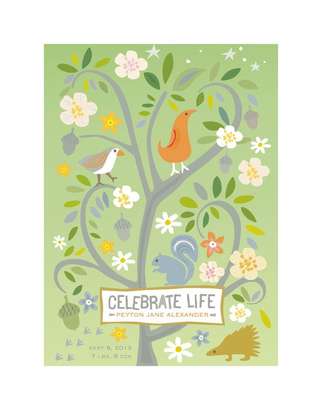 Celebrate Life Nursery Custom Art Print by Griffinbell Paper Co.   Minted
