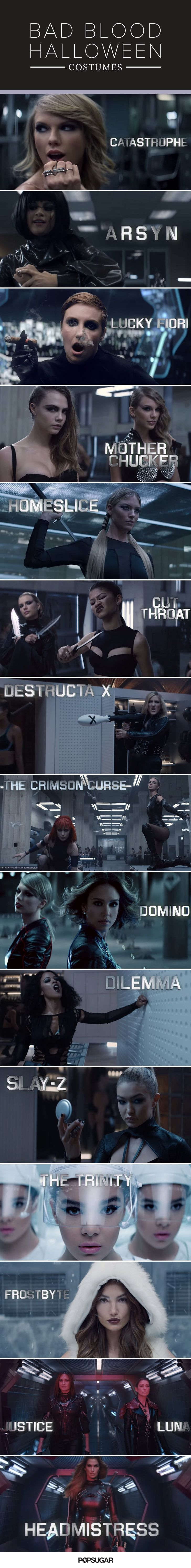 """Grab your girls, and pick which badass """"Bad Blood"""" woman you want to be this Halloween."""
