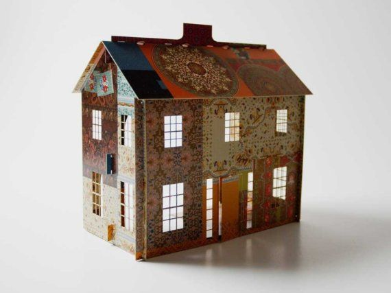 Sarabande Press- Pop-up Dollhouse + 9 pieces of furniture... love this! via @Kristin Theiss