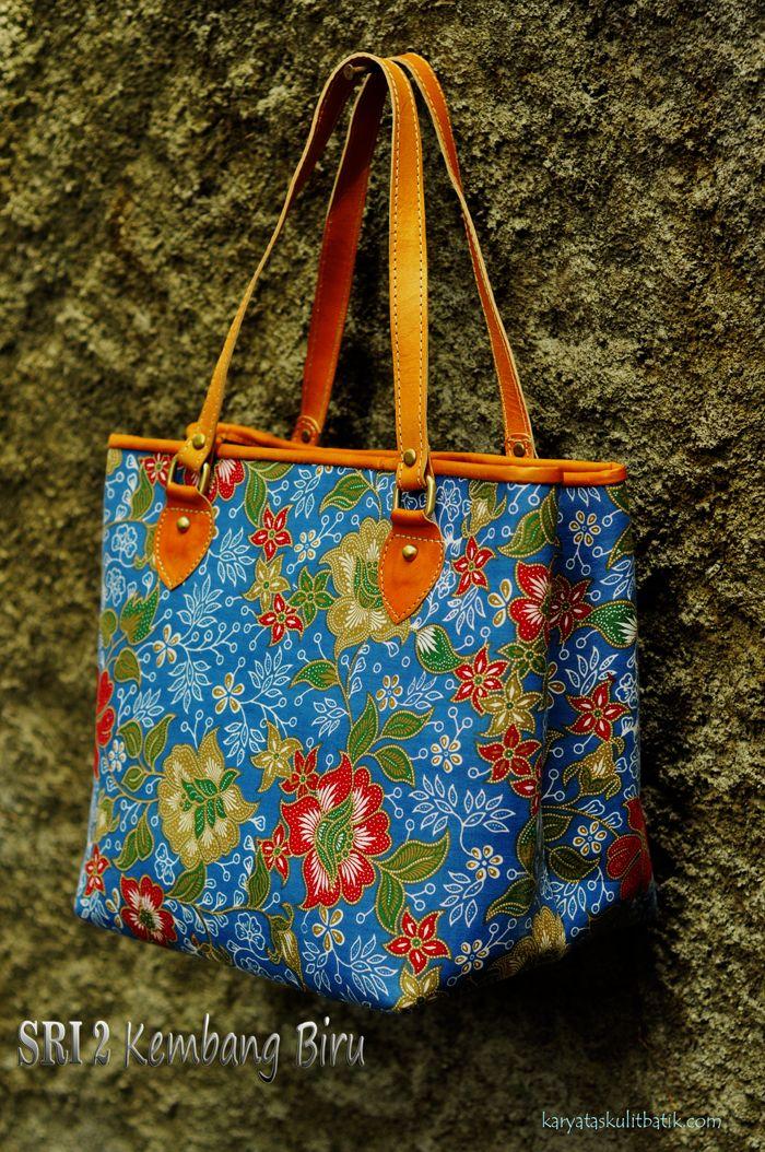 Sri 2 Kembang Biru ( Tas Kulit Batik ) by Karyatasku