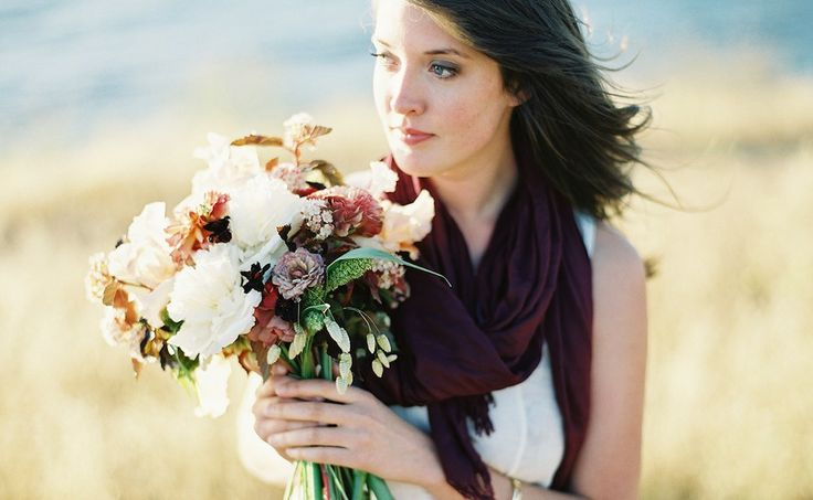 engagement shoot with flowers; twig & twine, photo by Bryce Covey