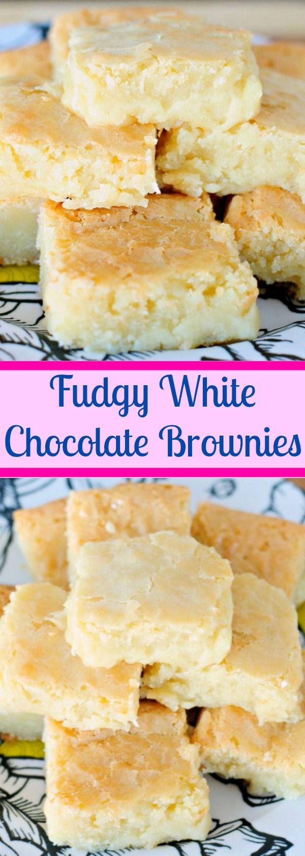 Fudge White Chocolate Brownies