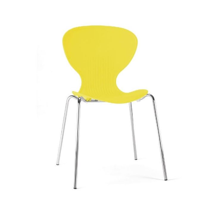 Ziponi Yellow Stacking Plastic Side Kitchen Dining Chairs Price Is For 4