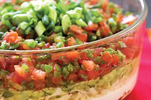 Ultimate Seven-Layer Dip #recipe - potluck dish for the Fourth of July?