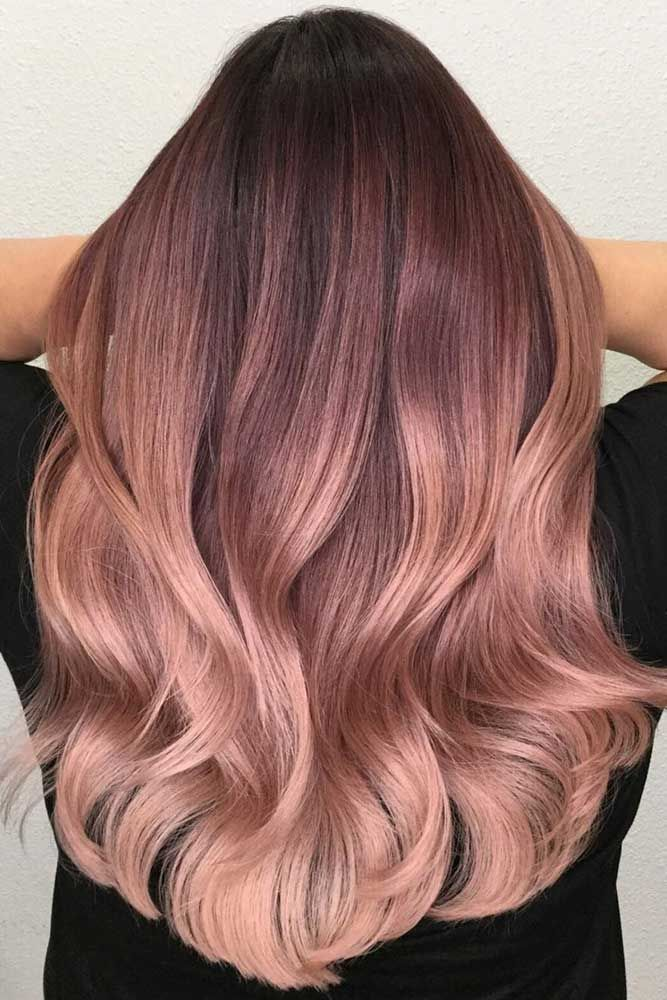 Rose gold hair color will definitely make you stand out, creating a girlish and ...