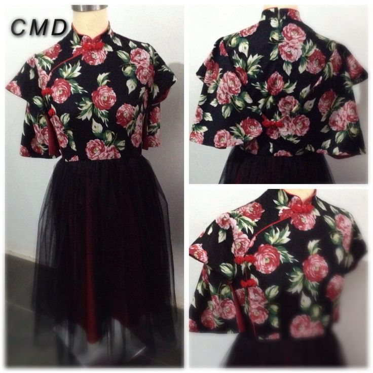 Red black cheongsam by CMD. Http://chasingmydream-store.blogspot.com❤️