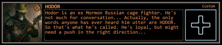 Found an old Wasteland 2 character I created ages ago... Made me lol a little.