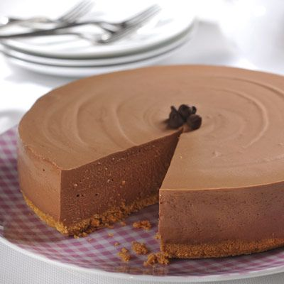 Easy Elegant No-Bake Cheesecake  Be sure to go bake to this board for Christmas ideas