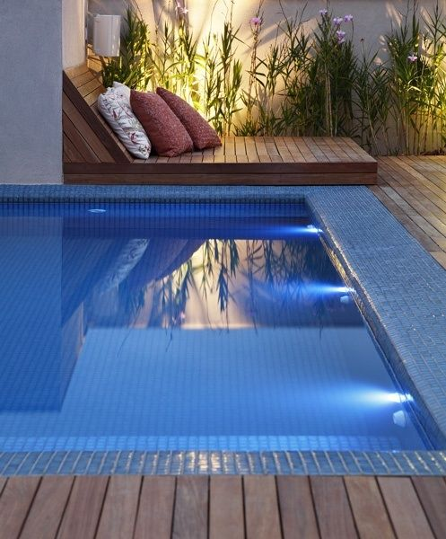 17 mejores ideas sobre piscinas del patio trasero peque as - Piscina prefabricada pequena ...