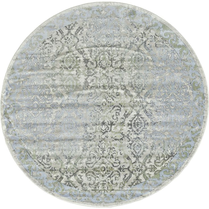 Grand Bazaar and Tan Machine-made Alessandria Round Rug