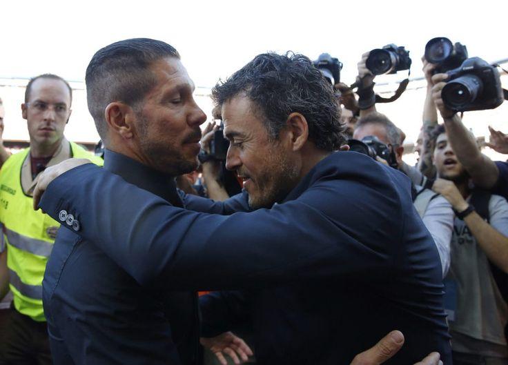 Saludo de Simeone y Luis Enrique. | Atlético de Madrid 0-1 FC Barcelona. [17.05.15]