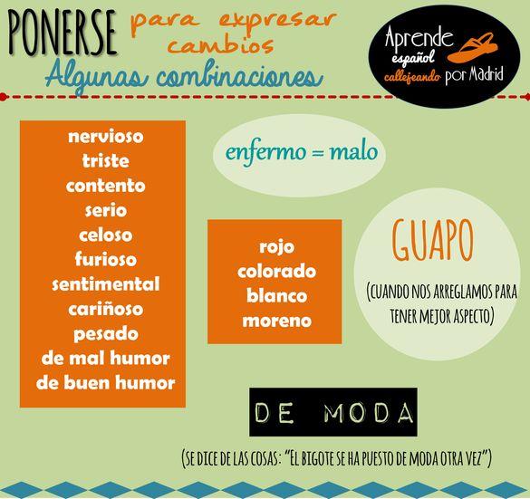 Verbos de cambio | lenguaje y otras luces Learn Spanish / Spanish vocabulary / Spanish grammar