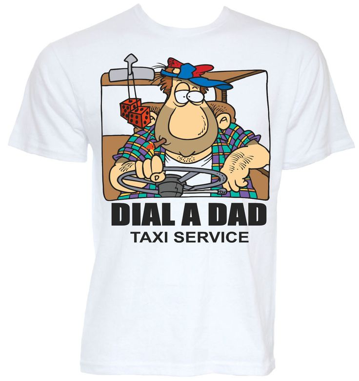 Mens Funny Cool Novelty Dads Taxi T Shirt Car Gift Fathers