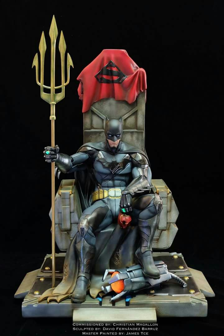So dirty, batman with all of the justice league weapons