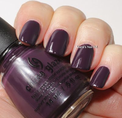 China Glaze Autumn Nights Coll. swatches part 2: Charmed, I'm Sure