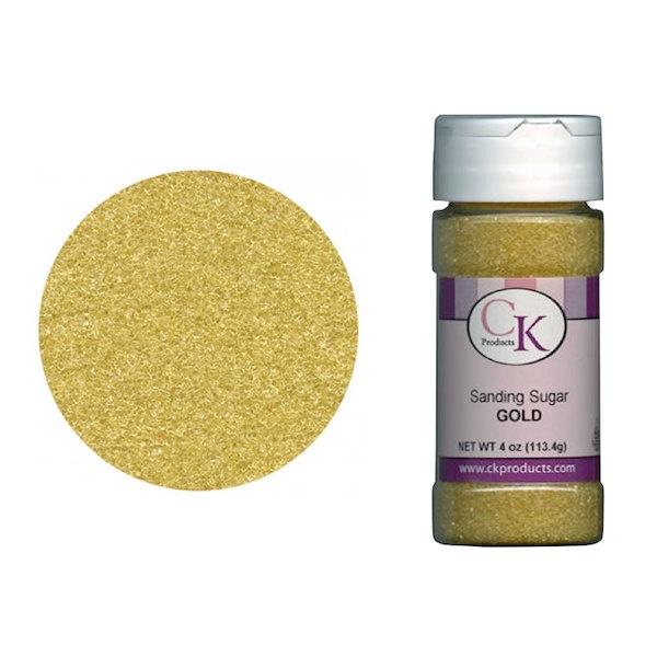 Gold Sanding Sugar - Edible Cake Decoration - Baking Candy Making Supplies. $1.95, via Etsy.