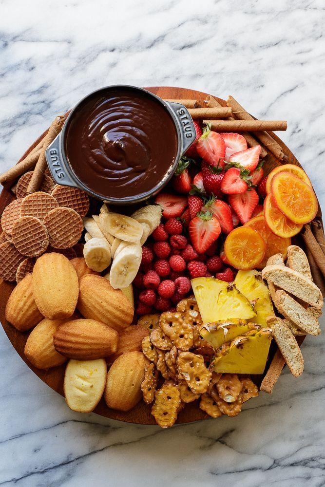 Chocolate Fondue | Romantic meals, Food recipes, Chocolate ...