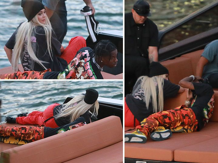 Kylie Jenner Back to Blonde, Floats Travis Scott's Boat (PHOTO GALLERY)