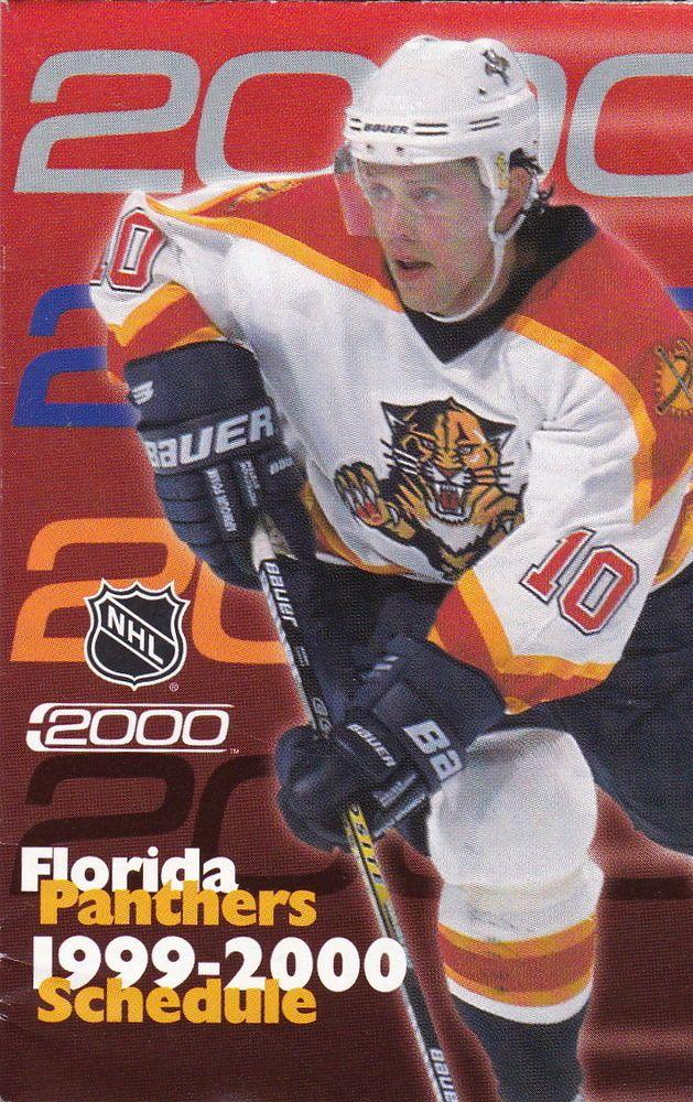 1999-00 FLORIDA PANTHERS HOCKEY POCKET SCHEDULE #Pocket