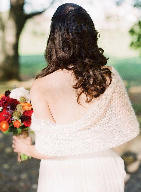 Mariée dentelle Bolero Bridemaids châle Shrug Cape Ivoire Mohair Soie blanc Multi Option enveloppe mariage couvrez-vous choix de nombreuses ...