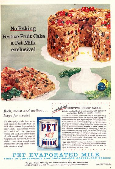 No Bake Festive Fruitcake from 1957 Pet Milk