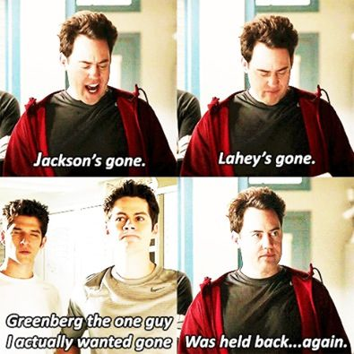 Teen Wolf - Coach I miss Jackson  I miss Isaac  I don't even know what Greenberg looks like!