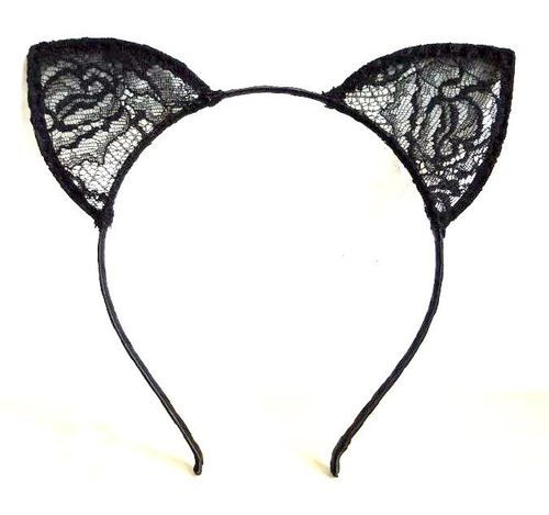 2014 Santa Wishlist - Black-lace Cat Ear Headband! (Like the one Ariana Grande has in the 'Love Me Harder' music video!)
