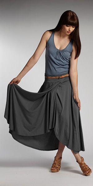 Women's organic cotton skirt and tank top. Fair trade eco fashion.