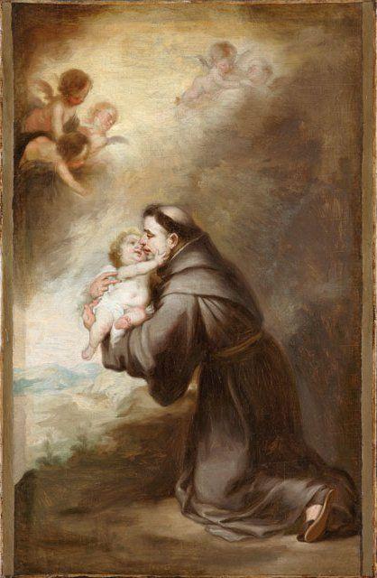 La visión de San Antonio de Padua.