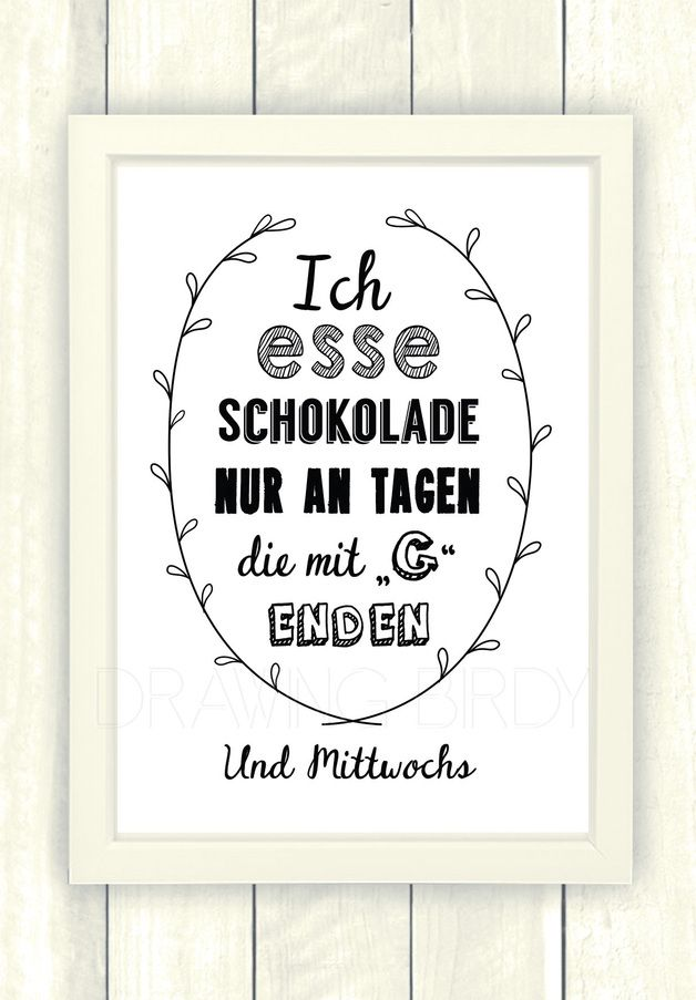 Typo/Druck Schokolade // poster/print chocolate by Drawing Bird via DaWanda.com