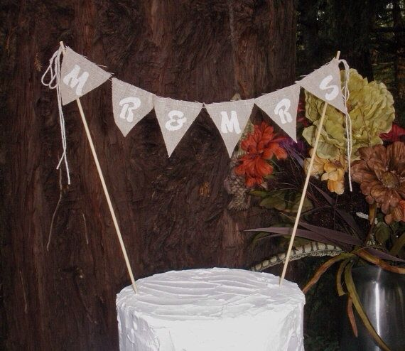Mr and Mrs wedding cake topper - etsy
