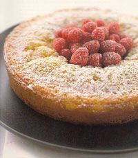 Nigella's easy almond cake - uses a block of marzipan and a food processor - easy!