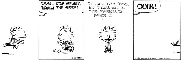 Calvin and Hobbes for February 28, 2015