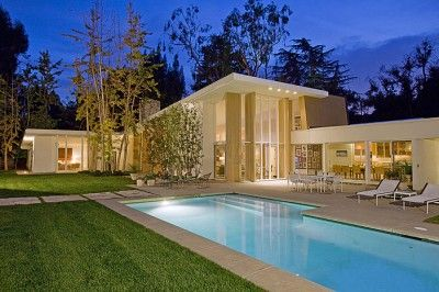 Modern dream home.: Pool, Dream Homes, Dream House, 1955, Gary Cooper, Mid Century, Actor Gary, Quincy Jones