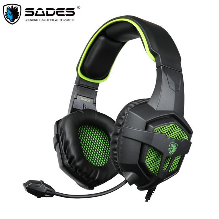 SADES SA-807 Gaming Stereo Headset with Microphone for Gamer PC,gaming stereo sound, comfortable fit,clear microphone,strong braided cord,multi platform compatible.
