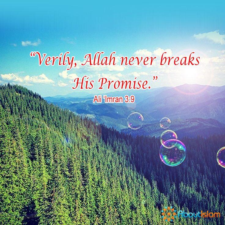 Allah never breaks his promise! ☝  #Promise #Quran #Islam